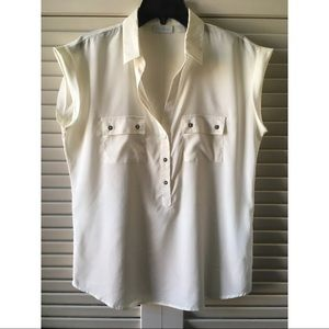 NY&Co Button Front Loose Fitting Blouse